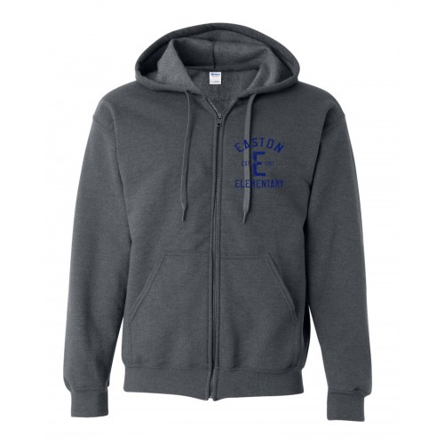 G187 Gildan Heavy Blend Vintage Full-Zip Hood - Navy Design