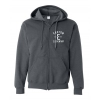G187 Gildan Heavy Blend Vintage Full-Zip Hood - White Design
