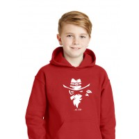 G18500B Red Youth Iredell United Bandits Hoodie