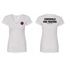 SPFFA Local 3137 Ladies' V Neck T-Shirt N1540