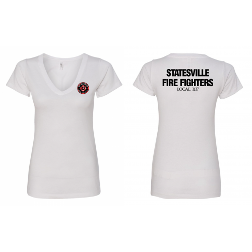 SPFFA Local 3137 Ladies' V Neck T-Shirt N1540