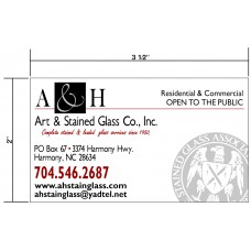 A&H Stained Glass Biz Cards Front