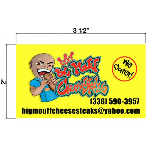 Big Mouff CheeseSteaks Biz Cards Front