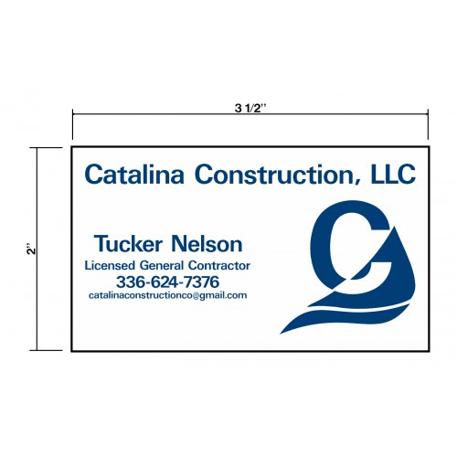 Catalina Construction Biz Cards Front