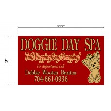 Doggie Day Spa Biz Cards Front