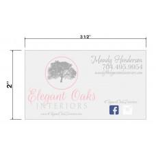 Elegant Oaks Interiors Biz Cards Front