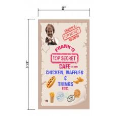 Frank's Top Secret Cafe Biz Cards Front