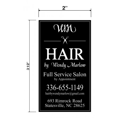 Hair by Wendy Marlow Biz Cards Front