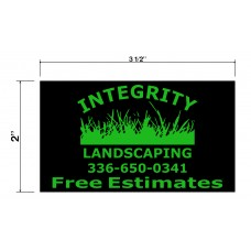 Integrity Landscaping Biz Cards Front