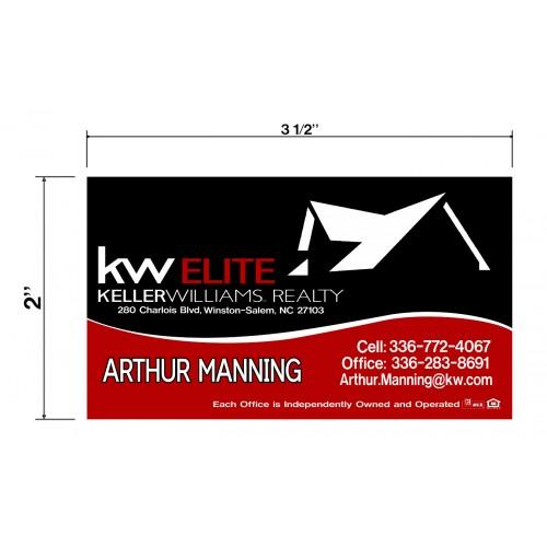 KW Arthur Manning Biz Cards Front