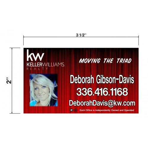 KW Deborah Gibson-Davis Biz Cards Front