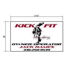 Kick Fit Biz Cards Front