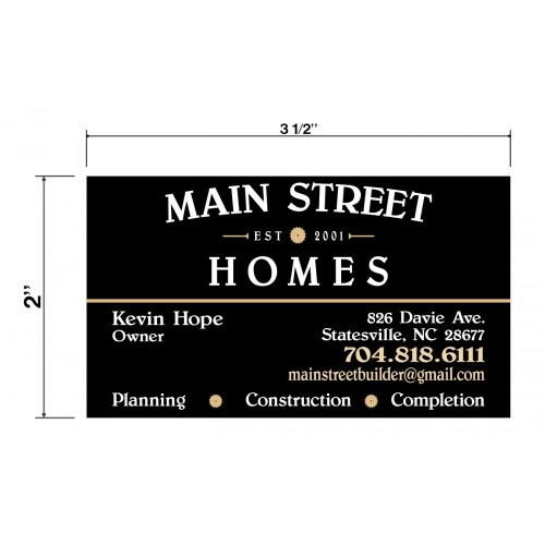 Main Street Builder Biz Cards Front