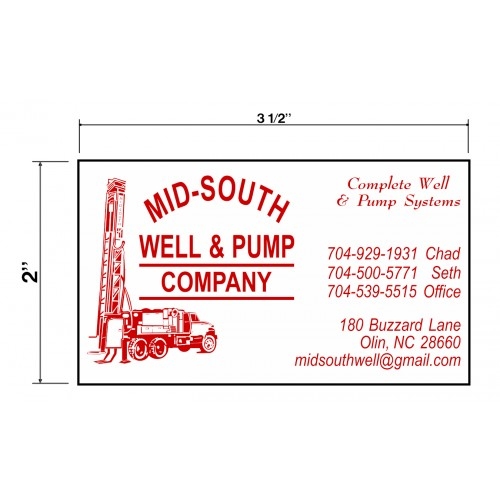 Mid South Well & Pump Company Biz Cards Front