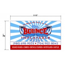 Mr. Bounce Inflatable Rentals Biz Cards Front