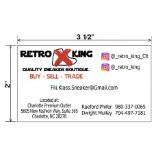 RetroKing Sneakers Biz Cards Front