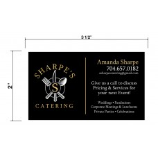 Sharpe Catering Biz Cards Front