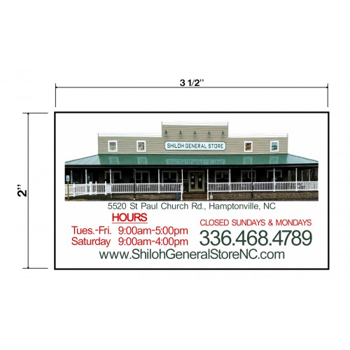 Shiloh General Store Biz Cards Front