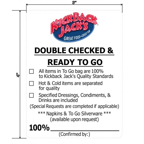 Double Checked & Ready To Go Roll Labels