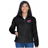Ultra Club 8481 Black Ladies' Fleece Jacket