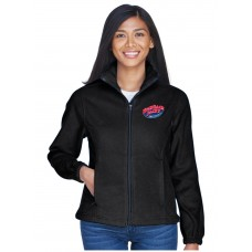 Ultra Club 8481 Black Ladies' Fleece Jacket