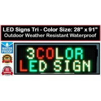 LED Sign 20mm 28x91