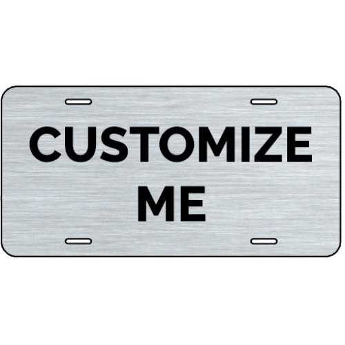 Black Metal License Tag